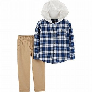 Carter's 2PC Hooded Flannel & Pant Set