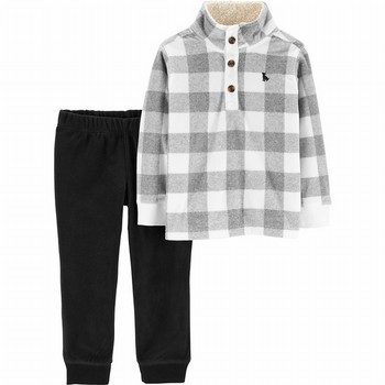 Carter's 2PC Checkered Fleece Pullover & Pant Set
