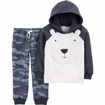 Carter's 2PC Bear Fleece Hoodie & Camo Jogger Set