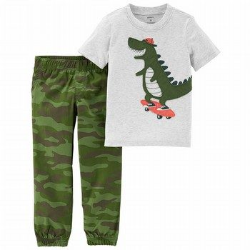 Carter's 2PC Dinosaur Tee & Camo Pant Set
