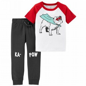 Carter's 2PC Super Hero Tee & French Terry Jogger Set