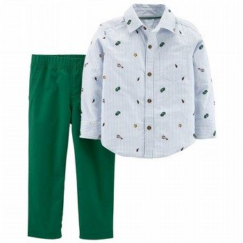 Cater's 2PC Button-Front Top & Pant Set