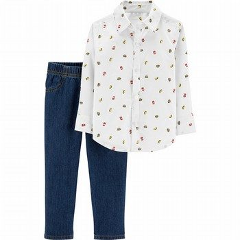 Carter's 2PC Taco Button-Front & Denim Pant Set