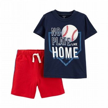 Carter's 2PC Baseball Tee & French Terry Short Set
