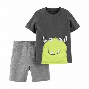 Carter's 2PC Monster Slub Tee & French Terry Short Set