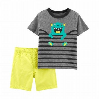 Carter's 2PC Monster Tee & Short Set