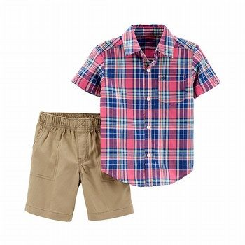 Carter's 2PC Button-Front Shirt & Short Set