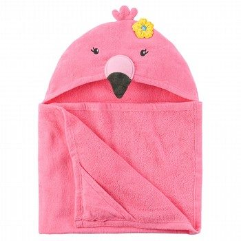 Carter's Flamingo Velour Hooded Towel