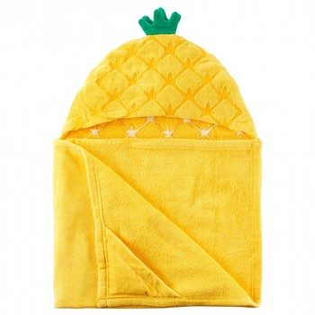 Carter's Pineapple Velour Hooded Towel