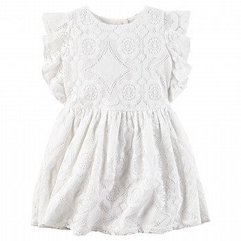 Carter's Flutter-Sleeve Lace Dress