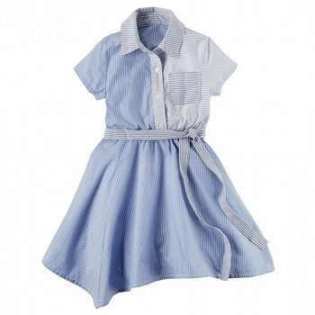 Carter's Poplin Handkerchief-Hem Shirt Dress