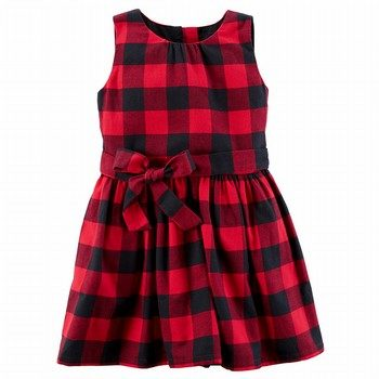 Carter's Buffalo Check Flannel Dress