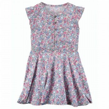 Carter's Flutter-Sleeve Floral Dress