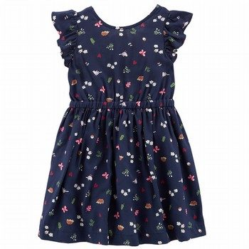 Carter's Floral Bow-Tie Dress