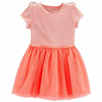 Carter's Neon Butterfly Tutu Dress
