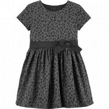 Carter's Cheetah Sateen Holiday Dress