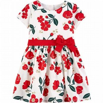 Carter's Floral Sateen Holiday Dress