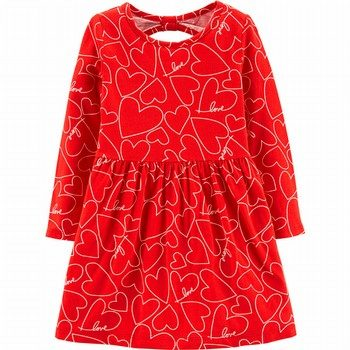 Carter's Heart Jersey Dress