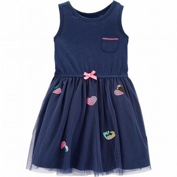 Carter's Heart Tulle Dress