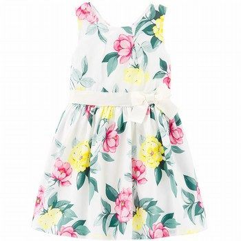 Carter's Floral Sateen Dress
