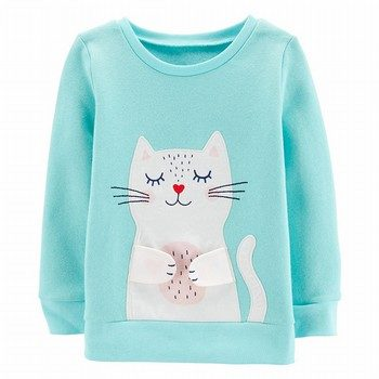 Carter's Interactive Kitty Fleece Sweatshirt