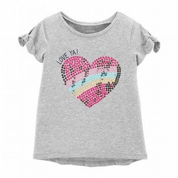 Carter's Sequin Heart Hi-Lo Tee