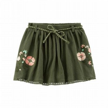 Carter's Embroidered Floral Skort