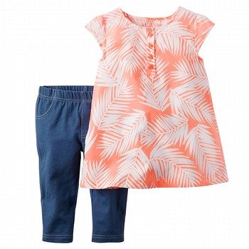 Carter's Palm 2 Piece Top & Bottom Set