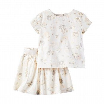 Carter's 2PC Floral Sateen Top & Skirt Set