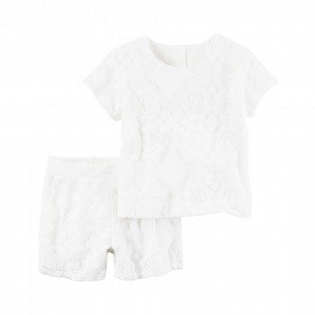 Carter's 2PC Lace Top & Short Set