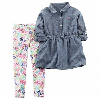 Carter's 2PC Chambray Tunic & Legging Set
