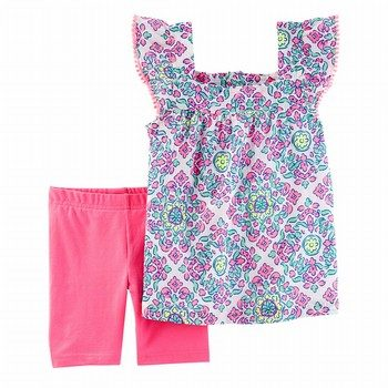 Carter's 2PC Medallion Print Top & Tumbling Short Set