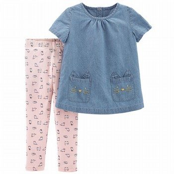 Carter's 2PC Chambray Top & Legging Set