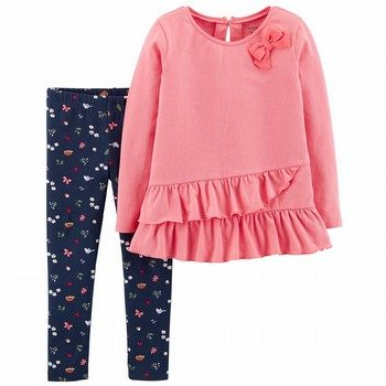 Carter's 2PC L/S Bow Top & Legging Set