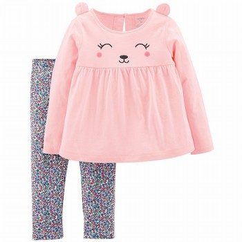 Carter's 2PC Bear Top & Floral Legging Set