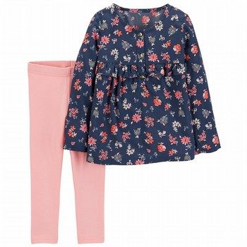 Carter's 2PC Floral Top & Legging Set