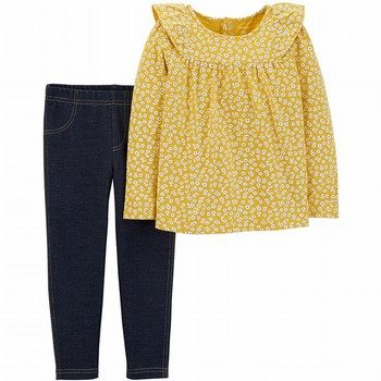 Carter's 2PC Ruffle Top & Jegging Set