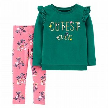 Carter's 2PC L/S Ruffle Top & Legging Set