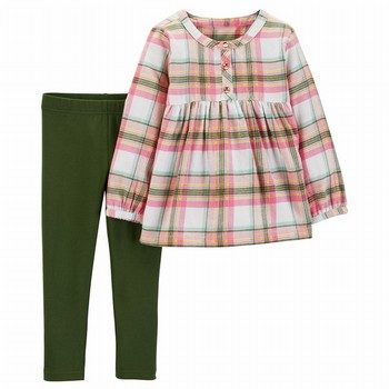 Carter's 2PC Plaid Flannel & Legging Set