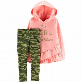 Carter's 2PC French Terry Hoodie & Legging Set
