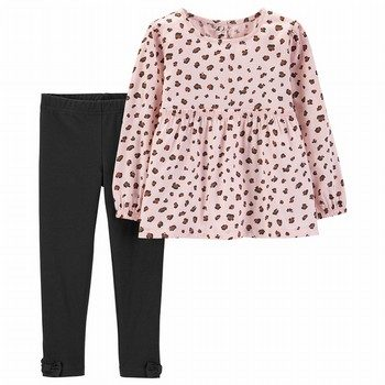 Carter's 2PC Cheetah Print Top & Legging Set