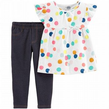Carter's 2PC Polka Dot Top & Jegging Set