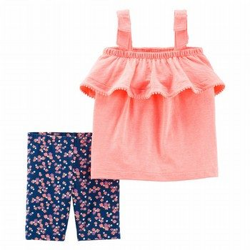 Carter's 2PC Neon Tank & Floral Tumbling Short Set