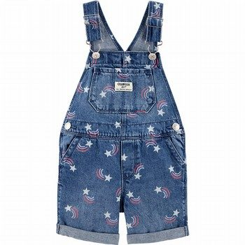 OshKosh Rainbow Star Denim Shortalls