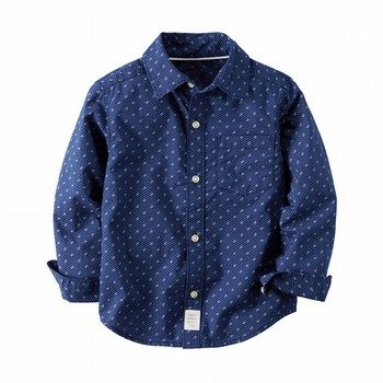 Carter's Poplin Printed Button-Front Shirt