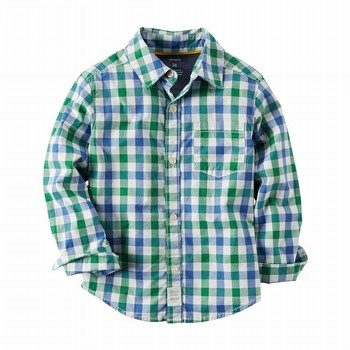 Carter's Plain Button-Front Shirt