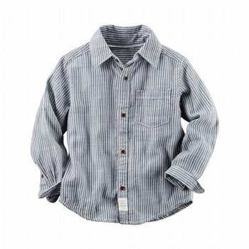 Carter's Hickory Stripe Button-Front Shirt