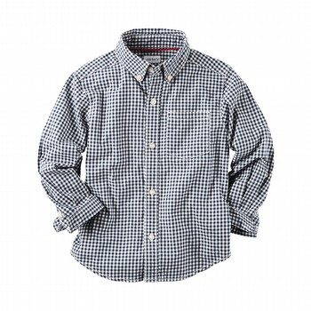 Carter's Poplin Gingham Button-Front Shirt