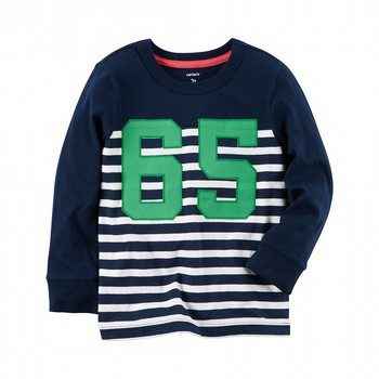Carter's Long-Sleeve Striped Varsity Tee