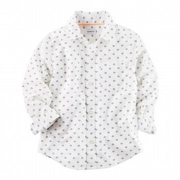 Carter's Indigo Ikat Button-Front Shirt